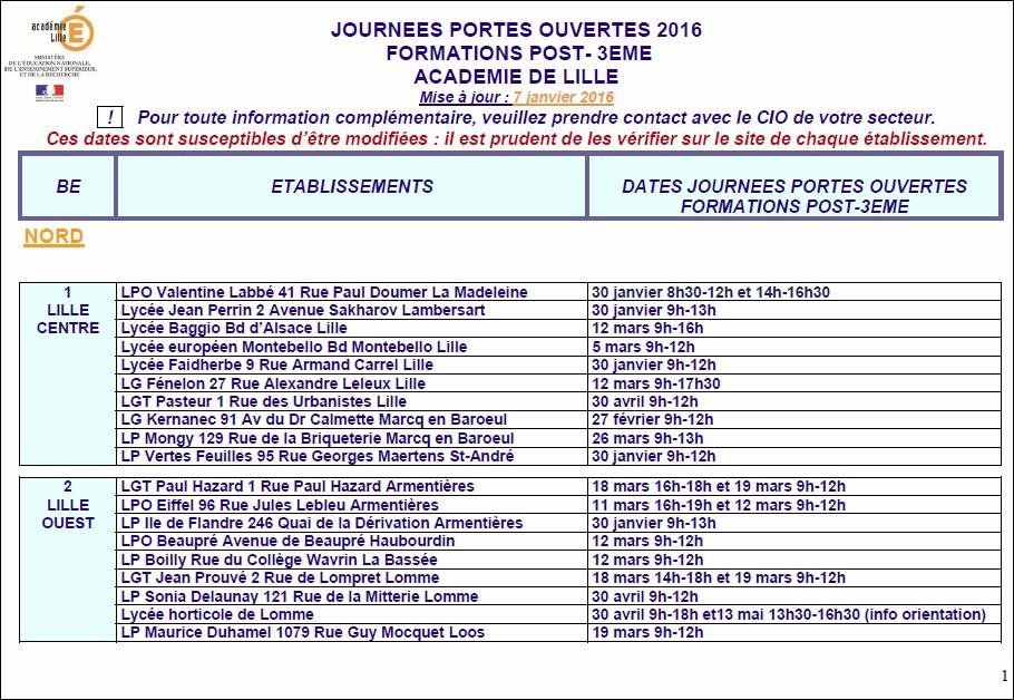 Journ es portes ouvertes post 3 me 2016 - Lycee henri wallon valenciennes portes ouvertes ...
